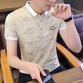 Áo thun nam cổ bẻ tay ngắn trẻ trung, chất liệu cotton cao cấp mẫu THUU50