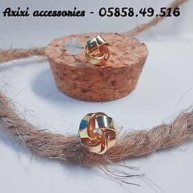 Khuyên tai bông tai khuyên tai nữ màu vàng lấp lánh Fiora earings Axixi accessories