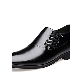 Hình đại diện sản phẩm CARTELO Crocodile (CARTELO) Business Casual Men's Workplace Elite Fashion Sets Of Feet Increased Leather Shoes 3808 (Increased Version) Black 37