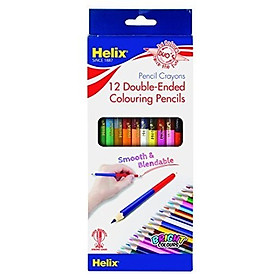 Bộ 12 Bút Chì Màu 2 Đầu 7'' - Helix PN6010