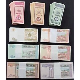 Bộ 9 tờ tiền của Mông Cổ Mã đáo thành công