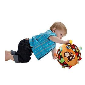 Đồ chơi sơ sinh - Quả bóng vải giúp bé tập cầm, ôm , bò, phát triển giác quan