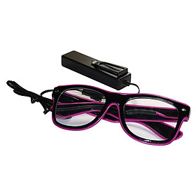 YJ001 Voice-Control Led Glasses 10 Colors Optional Light Up El Wire Neon Rave Glasses Twinkle Glowing Party Club Holiday
