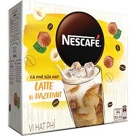 Bộ 2 Hộp Cà Phê Hòa Tan Nescafé Latte Sữa Hạt Vị Hạt Phỉ (Hộp 10 Gói X 24g)