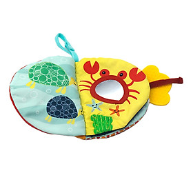 Baby Fish Soft Cloth Book Crinkle Activity Education Fabric Stroller Toys