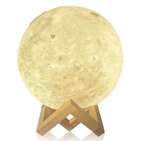 Đèn 3D Điêu Khắc Hình Mặt Trăng