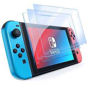 3 mảnh Nintendo switch bảo vệ màn hình kính cường lực, HD, bảo vệ mắt, chống ánh sáng xanh