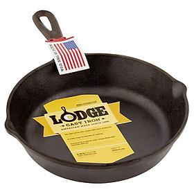 Chảo gang chiên rán xào không dính Lodge L6SK3 đường kính 23 cm - Sản xuất tại Mỹ