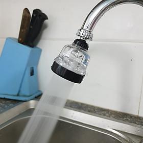 Đầu vòi rửa chén bát Tăng áp nhựa Trong ABS Cao Cấp ren 22mm 3 chế độ_ Bản mới đĩa chia tia inox SUS304 và bát sen lên 5cm, màu ngẫu nhiên