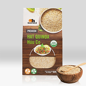Hạt Quinoa (Diêm mạch) Trắng Smile Nuts hộp giấy 500g - White Quinoa Seed Smile Nuts 500g