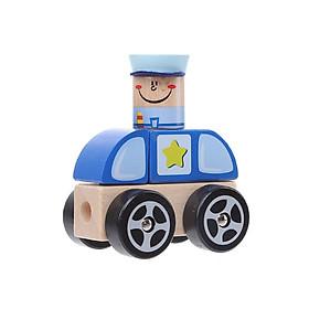 Đồ chơi gỗ Miniso xe buýt trường học 226g - Hàng chính hãng