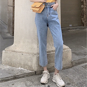 Quần jean nữ dáng BAGGY nữ Julido Store, chất jean co dãn nhẹ lưng cao mẫu mới BG94
