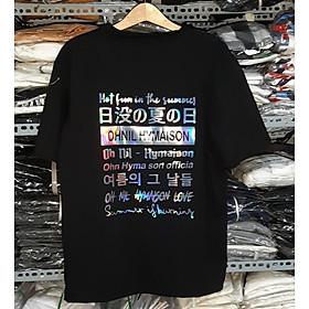 Áo thun oversize nam nữ in Phản Quang 7 màu OHNIL chất liệu vải tốt cotton M L XL màu đen Trumunisex