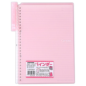 (KOKUYO) Japan imported Campus portable Smart Ring binder clipboard B5-S / 10 page pink RU-SP700LP