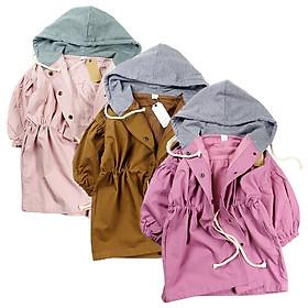 Áo khoác kaki dáng dài từ 15 đến 25 kg Quảng Châu cho bé gái 01765-01767(3)