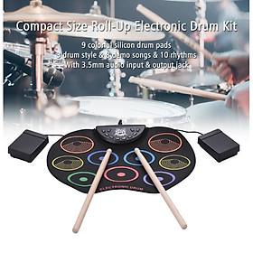 Đồ chơi trống điện tử 9 Pads Roll Up Drum New Color