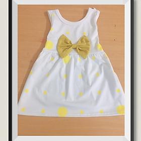 Đầm Nơ Chấm Bi Cực Xinh Cho Bé 8-18kg