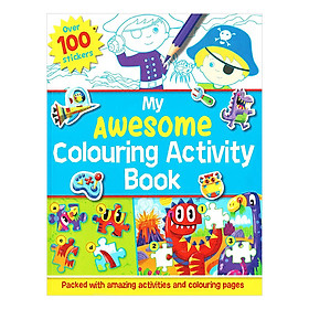 Sách tô màu My Awesome Colouring Activity Book (Over 100 Stickers)