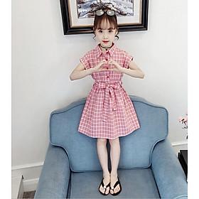 Đầm kẻ caro cho bé gái từ 3 đến 14 tuổi - DA26