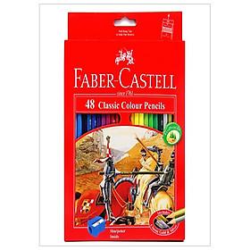 Faber-Castell-115858-Chì Màu Classic Knight - 48 Màu Dài + Chuốt