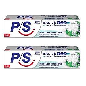 Combo 2 hộp Kem Đánh Răng P/S Bảo Vệ 123 Baking Soda - Hương Thảo ( 180g / hộp )