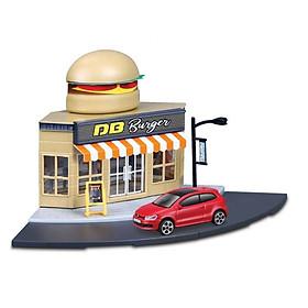 Đồ chơi mô hình MAISTO Bộ mô hình cửa hàng thức ăn nhanh và xe Bburago Volkswagen 31504/MT31500