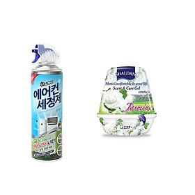 Combo 01 Bình xịt vệ sinh máy điều hòa, đièu hòa oto... Sandokkaebi 330ml + 01 hộp sáp thơm khử mùi ( Giao mùi ngẫu nhiên ) - Hàng nội địa Hàn Quốc.