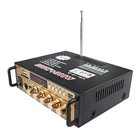 Mini 2CH LCD Display HIFI Audio Stereo Power Amplifier BT FM Radio Portable Car Home 600W Remote Control Audio Amplifier