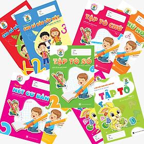 Combo 9 cuốn Tập tô - Tập viết chữ - Làm quen chữ cái/chữ số (Chuẩn bị vào lớp 1)