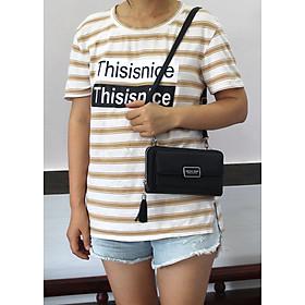 Túi đeo chéo nữ BE010  kiểu dáng thời trang chất liệu da PU