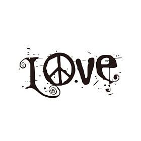 Miếng Dán Dán Tường DIY Hình Chữ Love Có Thể Tháo Rời - Đen