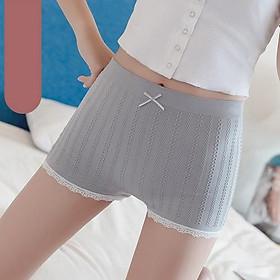 Quần đùi mặc váy cotton dệt gân cao cấp co giãn 4 chiều thoáng mát , thấm hút mồ hôi