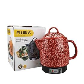 Siêu sắc thuốc điện tự động ngắt Fujika 3Lit màu đỏ, hoa văn ngẫu nhiên-Hàng chính hãng