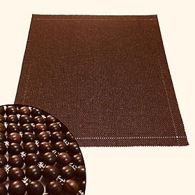 Chiếu hạt gỗ Mun hạt 1,2cm - Tặng gối hạt gỗ Trắc hình quả trám