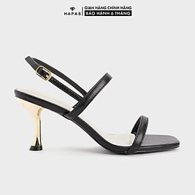 Giày Cao Gót Nữ Quai Ngang Gót Vàng 7Phân HAPAS - CG77105