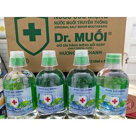 Thùng Nước Súc Miệng Dr. Muối Vị Chanh được làm từ 100% muối biển tự nhiên ( 12 Chai 500mml/ Thùng)