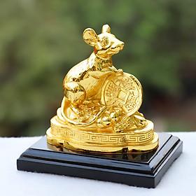 Linh vật chuột phong thủy mạ vàng