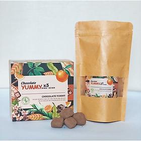 Thực phẩm bổ sung Socola tăng cân Chocolate Yummy x3 ăn ngon, ngủ ngon, hộp 15 viên - viên tăng cân Yummy plus