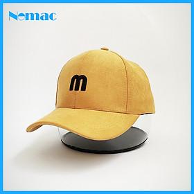 Nón kết/ Mũ lưỡi trai kaki nhung thêu chữ M Unisex Nomac NON0269