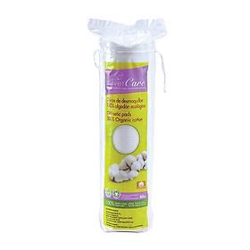 Bông tẩy trang hữu cơ tròn Silvercare 80 miếng