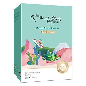 Mặt Nạ Cỏ Phục Sinh Mexico Dòng Se Khít Lỗ Chân Lông My Beauty Diary Mexico Anastatica Pore Refining Mask (8 Miếng / Hộp)