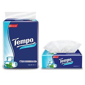 Lốc 4 Gói Khăn Giấy Tempo Softpack Icy Menthol 4 Lớp (90 Tờ/ 1 Gói)