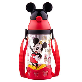 Disney baby learning cup sippy cup children water cup leakproof with handle kettle GX-64 pink Minnie 430ML