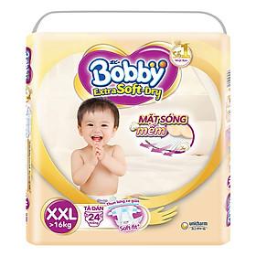 Tã Dán Siêu Mềm Bobby Extra Soft Dry Gói Lớn XXL24 (24 Miếng)