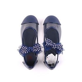 Giày búp bê bé gái Crown Space Crown UK Princess Ballerina CRUK3114 - Màu xanh navy