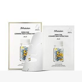 Hộp 10 Mặt Nạ Làm Dịu, Phục Hồi Da JM Solution Derma Care Ceramide Aqua Capsule 30ml x 10