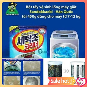 Tẩy lồng giặt bột gói 450g khử trùng diệt khuẩn