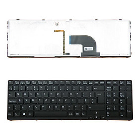 Replacement for VAIO SVE15 UK English Keyboard with Backlight Black + Frame