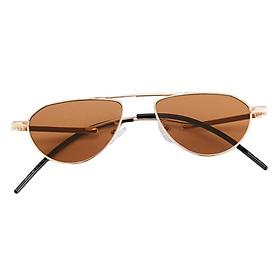 Unisex Fashion Oval Sunglasses Sun Glasses Shades Rave Party Eyewear Brown