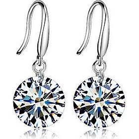 Khuyên tai nữ  kt06 móc hạt đá vát 3D hình viên kim cương nhân tạo, bông tai nữ thời trang xinh xắn